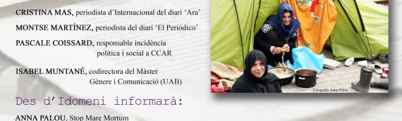Dones refugiades: invisibilitzades pels mitjans. Streaming de la Taula Rodona. Dilluns 9 maig 2016.