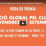 Roda de premsa 'Acció global pel clima' convocada per Fridays for Future Barcelona en streaming